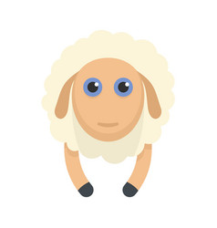 sheep smile icon flat style vector image