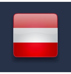 Square icon with flag of austria vector