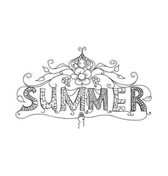 Summer floral ornament vector