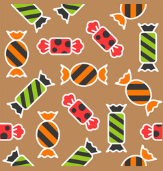 Sweets candy halloween theme filled outline vector