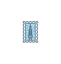 tokyo stamp vector image