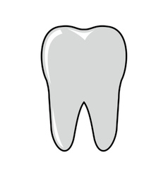 Tooth cartoon icon isolated on white background vector