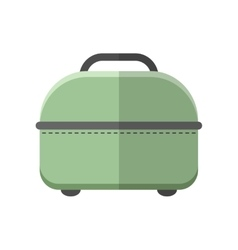 Travel bag Carry on baggage Flat color icon vector