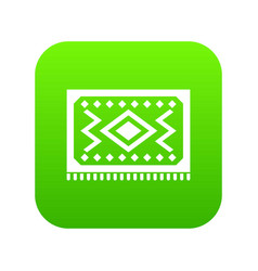 turkish carpet icon digital green vector image
