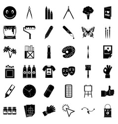 Varnish icons set simple style vector