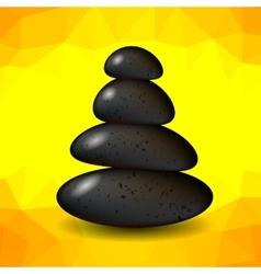 Yellow Polygonal Spa Background vector image