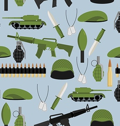 Army seamless pattern Arms background Tanks and vector image vector image