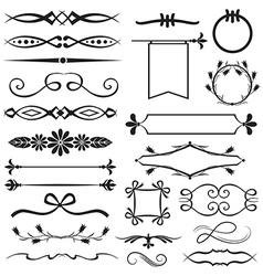 Design element set vector image vector image