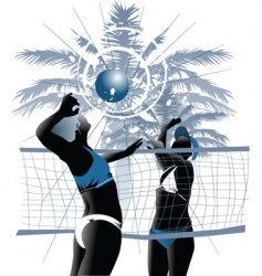 girl volleyball vector image vector image
