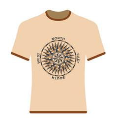 vintage compass rose t-shirt vector image