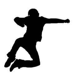 jumping man silhouette vector image