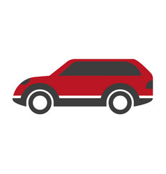 red colored crossover car vector image vector image