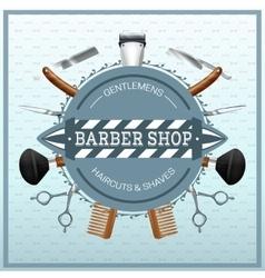 Barber Shop Realistic Concept vector image vector image