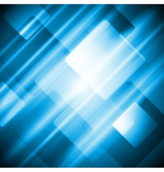 Blue tech abstract design vector image vector image