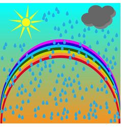 cartoon of a summer scenery vector image