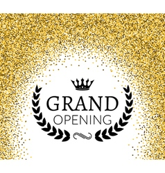 Grand opening ceremony background golden dust vector