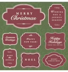holiday frame set vector image vector image