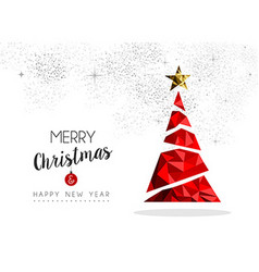 Red Christmas tree decoration for greeting card vector image vector image