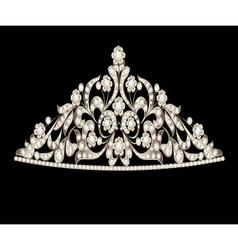 tiara crown womens wedding precious stones vector image