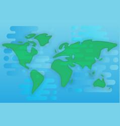 world map cartoon flat vector image