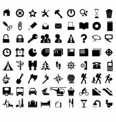 black icons vector image vector image