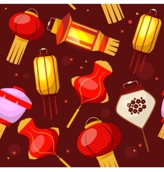 Chinese Lantern Background Pattern vector image