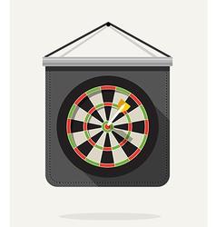 Dart with dartboard Flat design vector image