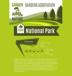 Nature and gardens association poster vector
