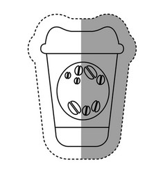 silhouette coffee drink food icon vector image vector image