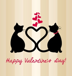 valentine 2cats vector image vector image