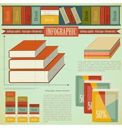Vintage infographics set - Book vector image