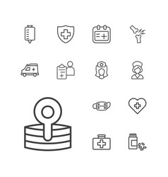 13 doctor icons vector