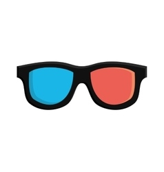 3d glasses film cinema movie icon graphic vector