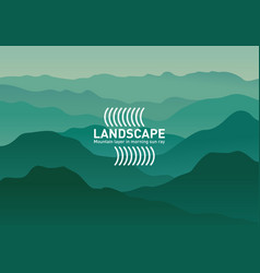 abstract landscape minimalist style banners vector image