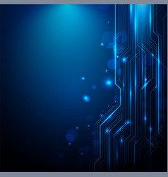 abstract lines circuit blue and white lights vector image vector image