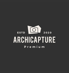 architecture photography hipster vintage logo icon vector image