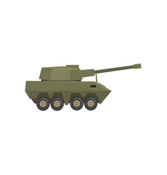 armored army machine heavy special transport vector image