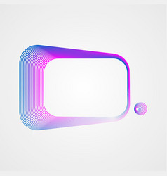 asymmetric rectangular frame of lines stylized vector image