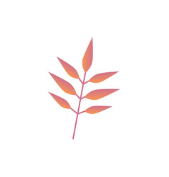 autumn leaf branch - fall vector image