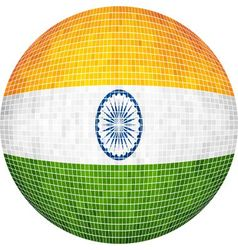 Ball with India flag vector