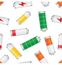 battery level indicator seamless pattern vector image