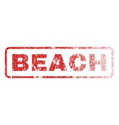 Beach rubber stamp vector