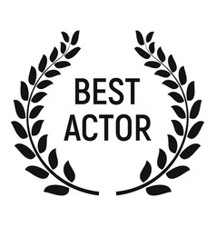 Best actor award icon simple style vector