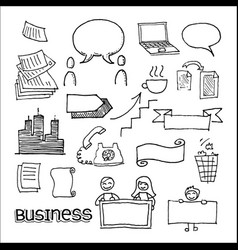 business communication and advertisement elements vector image