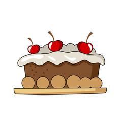 Cake tart vector
