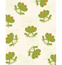 Cartoon frog pattern vector
