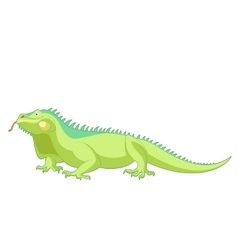 Cartoon smiling Iguana vector