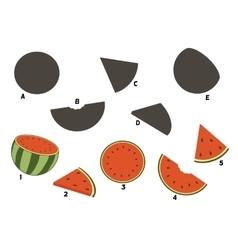 Cartoon watermelon vector image