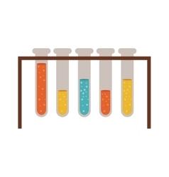 Chemistry test tubes vector