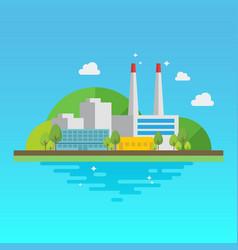 clean industrial building vector image